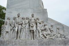 Alamo Cenotaph View 2. The Spirit of Sacrifice memorial at the Alamo in San Antonio Texas Stock Photo