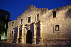 Alamo at dusk stock images
