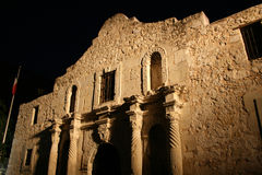 Alamo illuminated at night Stock Images