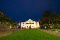 The Alamo Mission at night, San Antonio, Texas, USA royalty free stock photo