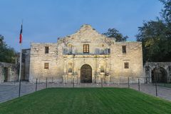 The legendary Alamo Mission fort and museum in San Antonio Royalty Free Stock Photos