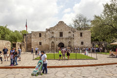 The Alamo Mission in San Antonio, Texas Stock Images