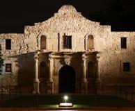 Alamo på natten Arkivfoton