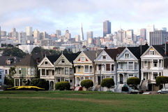 Alamo Park Painted Ladies of San Fran Royalty Free Stock Photo