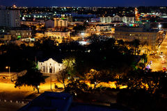 Alamo Plaza, San Antonio. At night royalty free stock photography