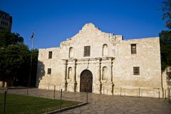 The Alamo`s evening. A photo of the historical site The Alamo royalty free stock image
