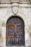 The Alamo's Front Door. Entryway into the historic Alamo in San Antonio, TX royalty free stock photo
