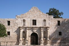 Alamo in San Antonio. The Alamo in San Antonio, Texas.  A large piece of Texas history and pride.  Remember the Alamo Royalty Free Stock Photography