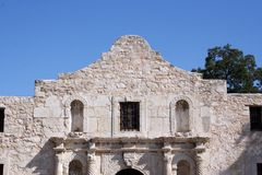 Alamo in San Antonio. The Alamo in San Antonio, Texas.  A large piece of Texas history and pride.  Remember the Alamo Royalty Free Stock Images