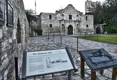 Alamo in San Antonio. The Alamo in down town San Antonio ,Texas royalty free stock photos