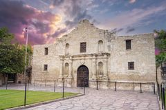 Alamo, San Antonio, TX Stock Afbeeldingen