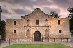 The Alamo, San Antonio, TX. Exterior view of the historic Alamo shortly after sunrise stock photos