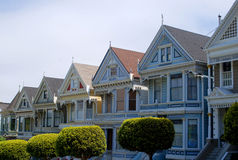 Alamo Square. In San Francisco, Victorian houses Stock Image