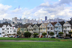 Alamo Square Stock Photo