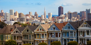 Alamo Square Hosues Stock Image