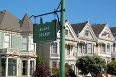 Alamo Square Painted Ladies Royalty Free Stock Photo