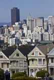 Alamo square and the Painted Ladies in San Francisco Stock Photos