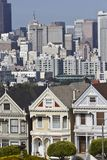 Alamo square and the Painted Ladies in San Francisco Stock Images
