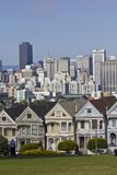 Alamo square and the Painted Ladies in San Francisco Royalty Free Stock Photos