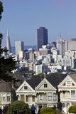 Alamo square and the Painted Ladies in San Francisco Royalty Free Stock Images