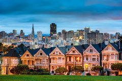 Alamo Square. San Diego, California cityscape at Alamo Square royalty free stock images