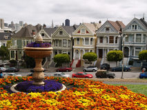 Alamo Square in San Francisco Stock Images