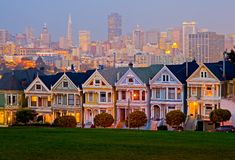 Alamo Square in San Francisco Stock Image