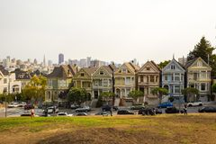 Alamo Square in San Francisco, California Royalty Free Stock Photo