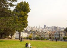Alamo Square in San Francisco, California Royalty Free Stock Images