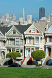Alamo Square in San Francisco, Victorian houses Royalty Free Stock Photos