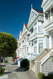 Alamo Square in San Francisco, Victorian houses Royalty Free Stock Photo