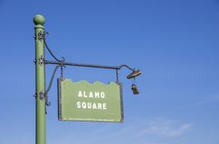 Alamo Square sign,San Francisco Royalty Free Stock Images