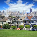 Alamo Square. Victorian architecture of San Francisco stock photography