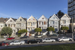 Alamo Square Victorians San Francisco Royalty Free Stock Photos