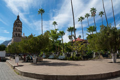 Alamos main plaza Royalty Free Stock Photography