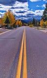 alamosa科罗拉多在美国附近的高速公路横向 免版税库存图片