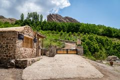 Free Alamut Castle In The Alamut Mountain In Iran. Royalty Free Stock Photos - 128077898