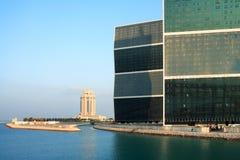Alamy horizontales Hotel und Kontrolltürme Stockfotografie