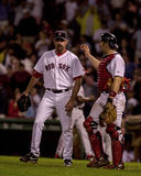 Alan Embree i Jason Varitek, Boston Red Sox fotografia stock