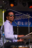 Alan Evans of Soulive performing at Riverrock Royalty Free Stock Photo