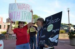 Alan Haber at peace rally, Ann Arbor, MI Royalty Free Stock Image