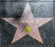 Alan Hale's star on Hollywood Walk Stock Image