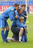 Alan Main with his sons. Royalty Free Stock Photography