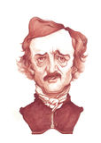 Alan Poe Caricature Sketch Royalty Free Stock Photo