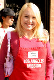 Alana Curry. At the Thanksgiving Meal for the Homeless at the Los Angeles Mission, Los Angeles, CA. 11-24-04 Royalty Free Stock Photo