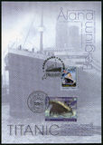 ALAND,比利时- 2012年:力大无比的展示,白色星线,力大无比的百年1912-2012 免版税图库摄影