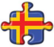 Aland aaland Tastenmarkierungsfahnen-Puzzlespielform Stockfotografie
