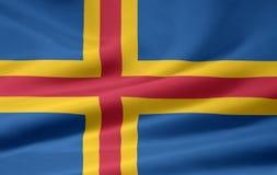 aland flagę Zdjęcia Stock