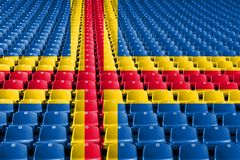 Aland flag stadium seats. Sports competition concept. Aland flag stadium seats. Sports competition concept royalty free stock photo