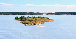 Aland Islands archipelago, view from cruise ship. Royalty Free Stock Image